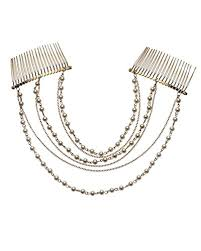 hair accessories online india buy forever trendy pearl chain layers with hair comb