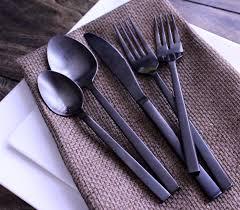 arezzo matte black flatware encore events rentals