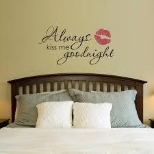 always kiss me goodnight wall decal goodnight wall sticker zoom