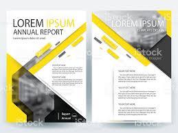 yellow brochure design templates layout vector illustration vetor