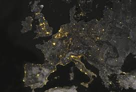 World At Night Map by Mapping The Lights Of The Night U2013 Points Of Interest