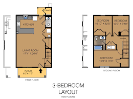 Best 3 Bedroom Floor Plan by Fairview Village