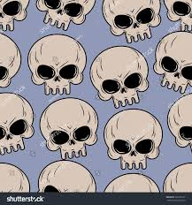 halloween background skulls skull seamless background many skulls pattern stock vector