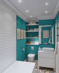 bathroom small laundry room design with blue wall also small