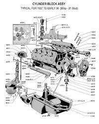 car suspension parts names flathead parts drawings engines