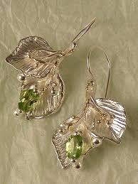original earrings one of a original handmade nature earrings with leaf design