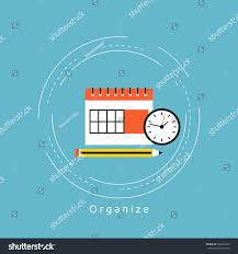 time management planning events flat vector stock vector 566201626
