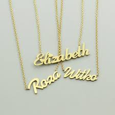 customized name necklace gold online shop custom personalized name necklace gold color signature