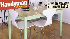 How To Paint A Dining Room Table by How To Revamp A Table With Timber Veneer And Paint Youtube