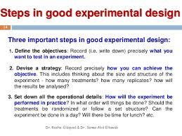 good experimental design introduction to experimental design