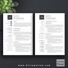 Customer Service Template Resume Modern Resume Template Cv Template Cover Letter References 1