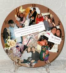 personalized picture clocks personalized photo collage memory wall clock s creative