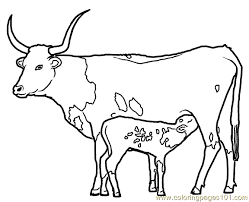 long horn coloring free coloring pages