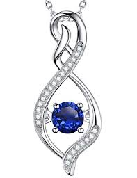 sapphire jewelry necklace images Elda co blue sapphire jewelry love infinity necklace jpg