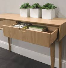 Small Oak Console Table Fancy Oak Console Table With Drawers With Decoration Small Console