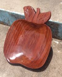 wood bowl apple shaped wood bowl kidz konnect 4 jesus