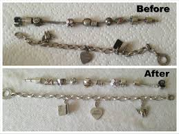 silver necklace pandora beads images Tarnished pandora bracelet how to clean silver jewelry jpg