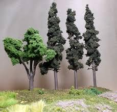trees with woodland scenics realistic tree kit