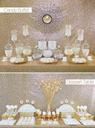 egyptian party candy buffet in lots of gold and blue candy