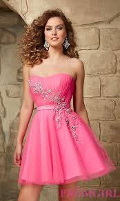 short strapless sweetheart tulle party dress promgirl