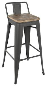 Low Back Bar Stool Oregon Low Back Bar Stool Industrial Bar Stools And Counter