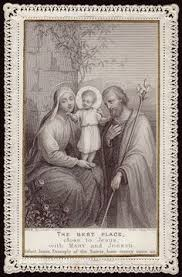 antique lace holy card the holy family jesus