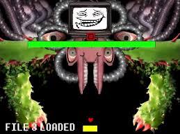 Meme Generator Troll - omega flowey troll face blank template imgflip