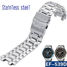 titanium bracelet watches images Watchband for ef 539 solid stainless steel watch bands bracelet jpg