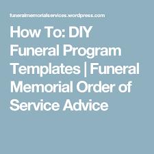 diy funeral programs how to diy funeral program templates funeral memorial program