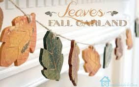 Remodelando La Casa Old Stone by Remodelando La Casa Fall Leaf Garland