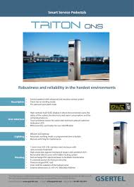 Electrical Service Pedestal Triton Ons Gsertel Pdf Catalogues Documentation Boating