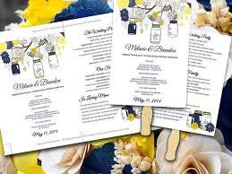 Ceremony Program Fans The 25 Best Diy Wedding Program Template Ideas On Pinterest