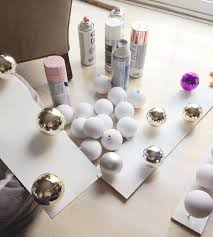 diy brushstroke painted plastic balls cuckoo4design