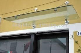 Buy Awning Anti Rainstorm Typhoon Sunshade Canopy Glass Frameless Awning