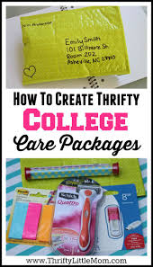 college student care package creating thrifty college care packages