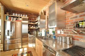 Interior Simple Brick Red Kitchen Cabinets Kitchen Design Brick