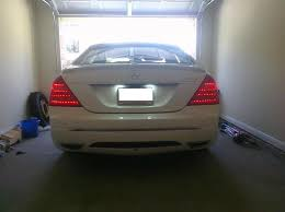 2010 s550 tail lights just change my 07 s550 tail light into the 2010 led mercedes