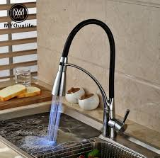 led kitchen faucets single handle brass color changing led kitchen faucet deck mount