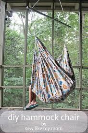 hammock swing chair diy outdoorlivingdecor