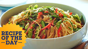 recipe of the day ina u0027s crunchy noodle salad food network youtube