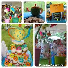 picturing disney alice in wonderland themed baby shower games