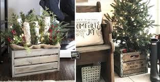 cassette natalizie abbellire casa con un cesto a natale ecco 15 idee per ispirarvi