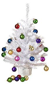 essentials 18 inch decorated tabletop tree