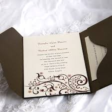 invitation wedding secret brown bliss pocket wedding invitation ukps030 ukps030