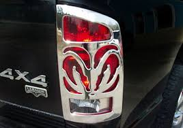 2001 dodge dakota tail light covers dodge ram accessory v tech dodge ram chrome big horn tail light