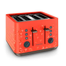 Best Four Slice Toaster Uk Prism Orange 4 Slice Toaster By Morphy Richards Toasters