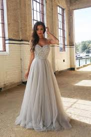 a line spaghetti straps floor length tulle beading prom dresses