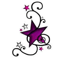 small star tattoo design purple inofashionstyle com