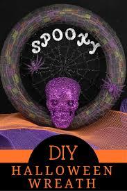 diy halloween wreath easy halloween craft tutorial