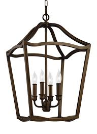 Lighting Foyer F2975 4pagb 4 Light Foyer Painted Aged Brass
